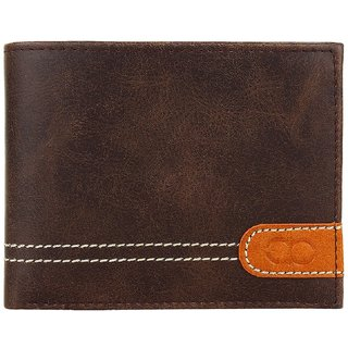 Amicraft Men's Stylish Accessory Leather Wallet in Brown (Synthetic leather/Rexine)