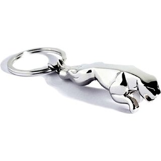 Jaguar Keychain Metallic Silver set of 1