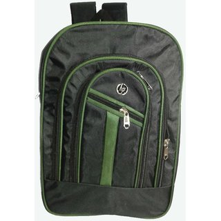 HP 20.6 L Black and Green Polyester Backpacks
