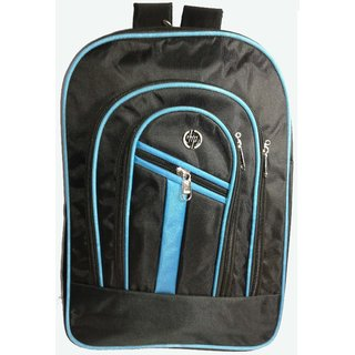 HP 20.6 L Black and Blue Polyester Backpacks