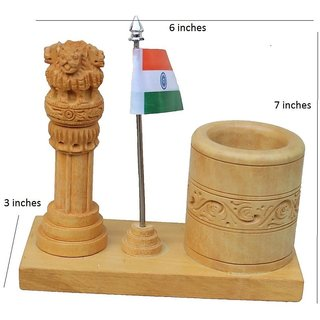 Agarwal Trading Corporation Pink City Jaipur Unique Traditional Wooden Handmade Handicraft Ashok stambh with decorative