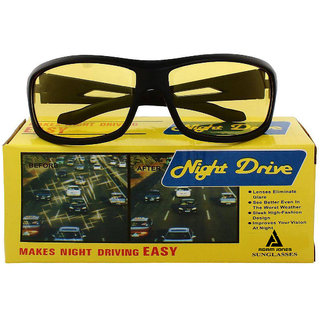 Adam Jones Yellow Night Vision Wrap-Around Unisex Sunglasses (Medium Size)