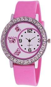 Bhavyam Fashion Pink Baby Glory Pink Diamond Fancy Lete