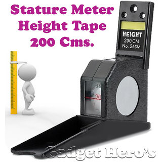 Gadget Heros Wall Mounted Height Measuring Scale Stature Meter 200cms/78inch/2M