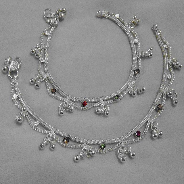 Supermart Silver Plated Silver Alloy Payal Pajab For Women