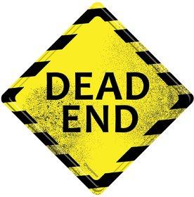 Happipress Dead End Metal Door Sign