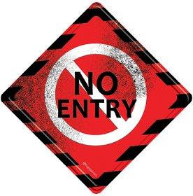 Happipress No Entry Metal Door Sign