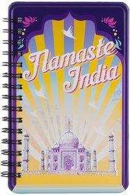 Happipress Namaste India Metal Notebook