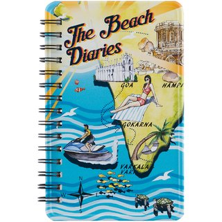 Happipress Beach Diaries Metal Notebook