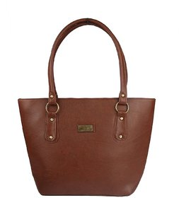 Style Loft Leather Brown Hand Bag For Women  Girls(SL-0