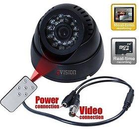 ZVision CCTV Dome 24 IR Night Vision Camera DVR with Memory Card Slot Recording (BNC)