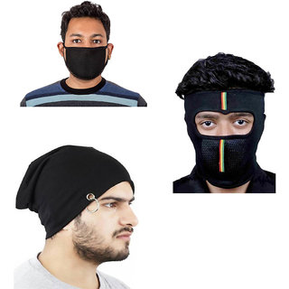 Buy Combo Of Winter Casual Stylish Warm Black Cap for Men And Face Mask  Online - Get 92% Off e51532e7b61