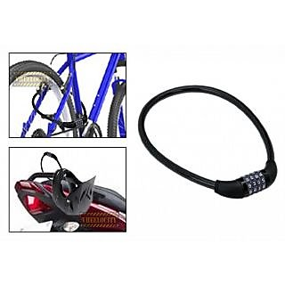 Multipurpose 4 Digit Numeric Cable Bicycle/Bike Helmet Lock