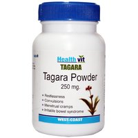 Buy 1 Get 1 Free HealthVit Tagara Powder 250 Mg 60 Capsules (Pack Of 2)