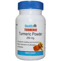 Buy 1 Get 1 Free HealthVit Turmeric Powder 400 Mg 60 Capsules (Pack Of 2)