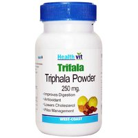 Buy 1 Get 1 Free HealthVit Triphala Powder 250 Mg 60 Capsules (Pack Of 2)