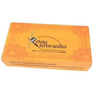 MUMBAI TATTOO KATANA NEEDLE WITHOUT NIPPLE 11M1 - Color Orange (Pack of 50)