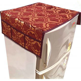 Fridge Top Cover - Velvet Material