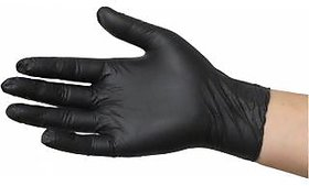 Mumbai Tattoo X-Small Black Nitrile Gloves Nitrile Surgical Gloves - X-Small (Box of 100pc)