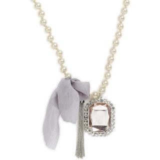 Adbeni Stylish Pendant Off White Beads Necklace For Girls and Women TPNW13-211