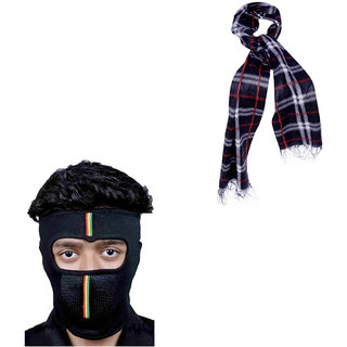 154744a73a0 Combo Of Winter Casual Stylish Warm Assorted Color Muffler And Face Mask
