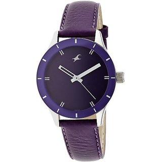 Fastrack Quartz Purple Round Women Watch 6078SL05