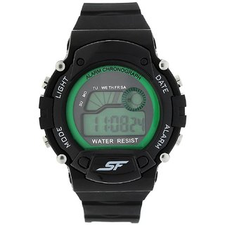 Sonata Digital Green Dial Mens Watch-7982PP05