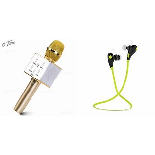 Clairbell Q7 Microphone and Jogger Bluetooth Headset for SAMSUNG GALAXY NOTE EDGE(Q7 Mic and Karoke with bluetooth speaker   Jogger Bluetooth Headset With Mic)