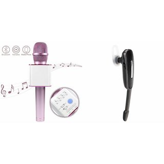 Clairbell Q7 Microphone and HM1000 Bluetooth Headset for HTC ONE ME DUAL SIM(Q7 Mic and Karoke with bluetooth speaker | HM1000 Bluetooth Headset With Mic)