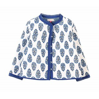 Girls Printed Reversible Quilted Jacket