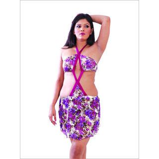 d68db00e4e6 O Dear Women s Night Dress In Violet Prices in India- Shopclues ...