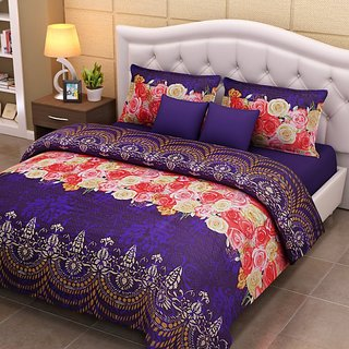 Birde extra soft 3d bedsheet with 2 pillow cover
