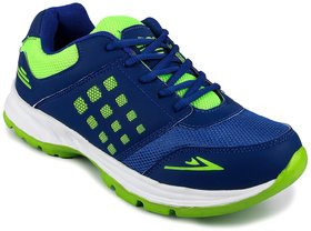 N Five Blue Mesh Lace-up Shoes For Men Blue Running Sho