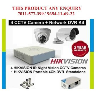 2eefcd39bf5 Hikvision 2 MP FULL HD 4 Channel DVR With 1 Indoor 1 Outdoor CCTV Camera  Surveillance Kit