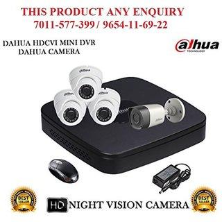 Dahua 2 MP HDCVI 4 CH DVR +  Dahua HDCVI  Bullet Camera 1Pcs and Dome Camera 3Pcs Combo