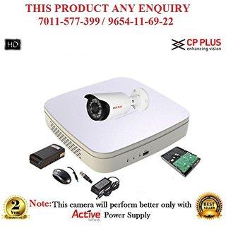 Cp Plus 1 MP Full HD  4CH DVR + Cp plus HD  Bullet IR CCTV Camera 1Pcs + 1TB HDD CCTV COMBO
