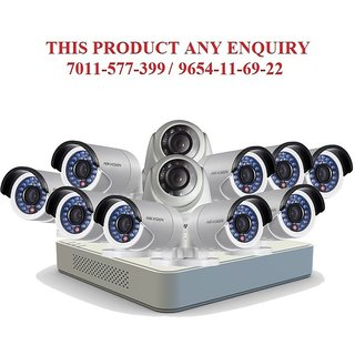 Hikvision 1 MP 16ch Turbo Hd Dvr (Ds-7116HGHI-F1) With 2 Dome (DS-56COT-IRPF)  9 Bullet (DS-2CE-16COT-IRPF) Cameras