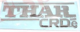 MAHINDRA THAR CRDE CAR MONOGRAM /LOGO/EMBLEM chrome emblem