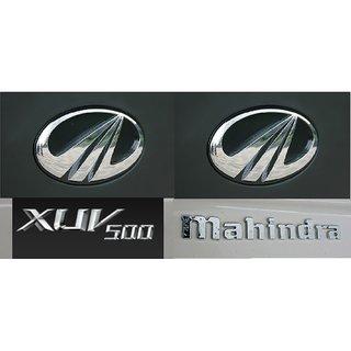 MAHINDRA XUV500 CAR MONOGRAM /LOGO/EMBLEM chrome emblem complete family pack