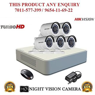 HIKVISION 1 MP 8CH DS 7108HGHI F1 MINI Turbo HD 720P DVR + HIKVISION DS 2CE16COT IR TURBO BULLET CAMERA 5pcs