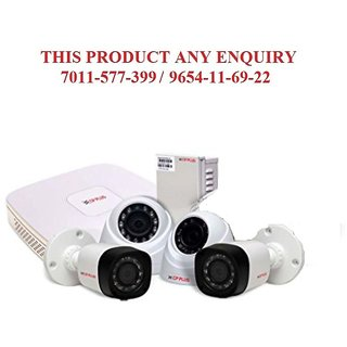 CP PLUS- 1 MP 4 CHANNEL High Definition Digital Video Recorder, 2 x HD Dome Cameras, 2 x HD Bullet Cameras ,Power Suplay,Bnc,Dc,