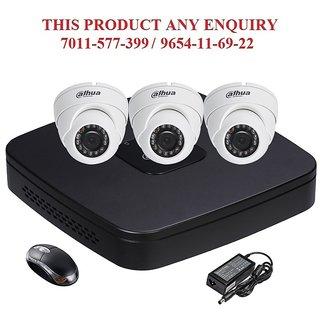 DAHUA 1 3 MP HDCVI 4CH DVR + Dahua HDCVI Dome Camera 3Pcs Combo
