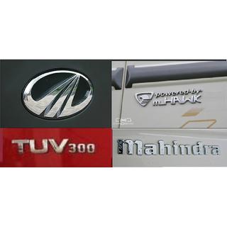 MAHINDRA TUV300 CAR MONOGRAM /LOGO/EMBLEM/GRAPHIC chrome emblem complete family pack
