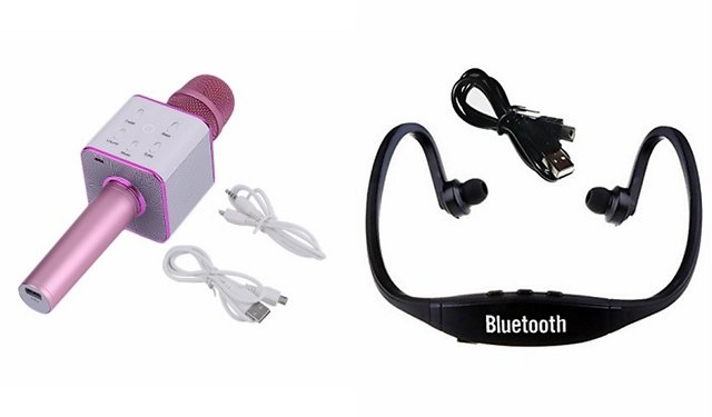 Buy Zemini Q7 Microphone And Bs19c Bluetooth Headset For Micromax Canvas Duet Ae90 Q7 Mic And Karoke With Bluetooth Speaker Bs19c Bluetooth Headset With Mic Online 1299 From Shopclues