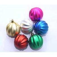 Christmas Decoration Hanging Multi Color Balls -set Of