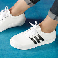 Trendy Look Black  White Sneakers HI