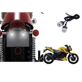 Autonity Bike LED Number/Licence Plate White Lights Set Of 2 for TVS Apache  RTR 160