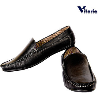 Vitoria Black Loafer Shoes For Men