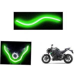 Autonity  Flexible 30cm Bike Headlight Neon LED DRL Tube GREEN For Kawasaki Z800