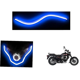 Autonity  Flexible 30cm Bike Headlight Neon LED DRL Tube BLUE For Bajaj Avenger 220 Street